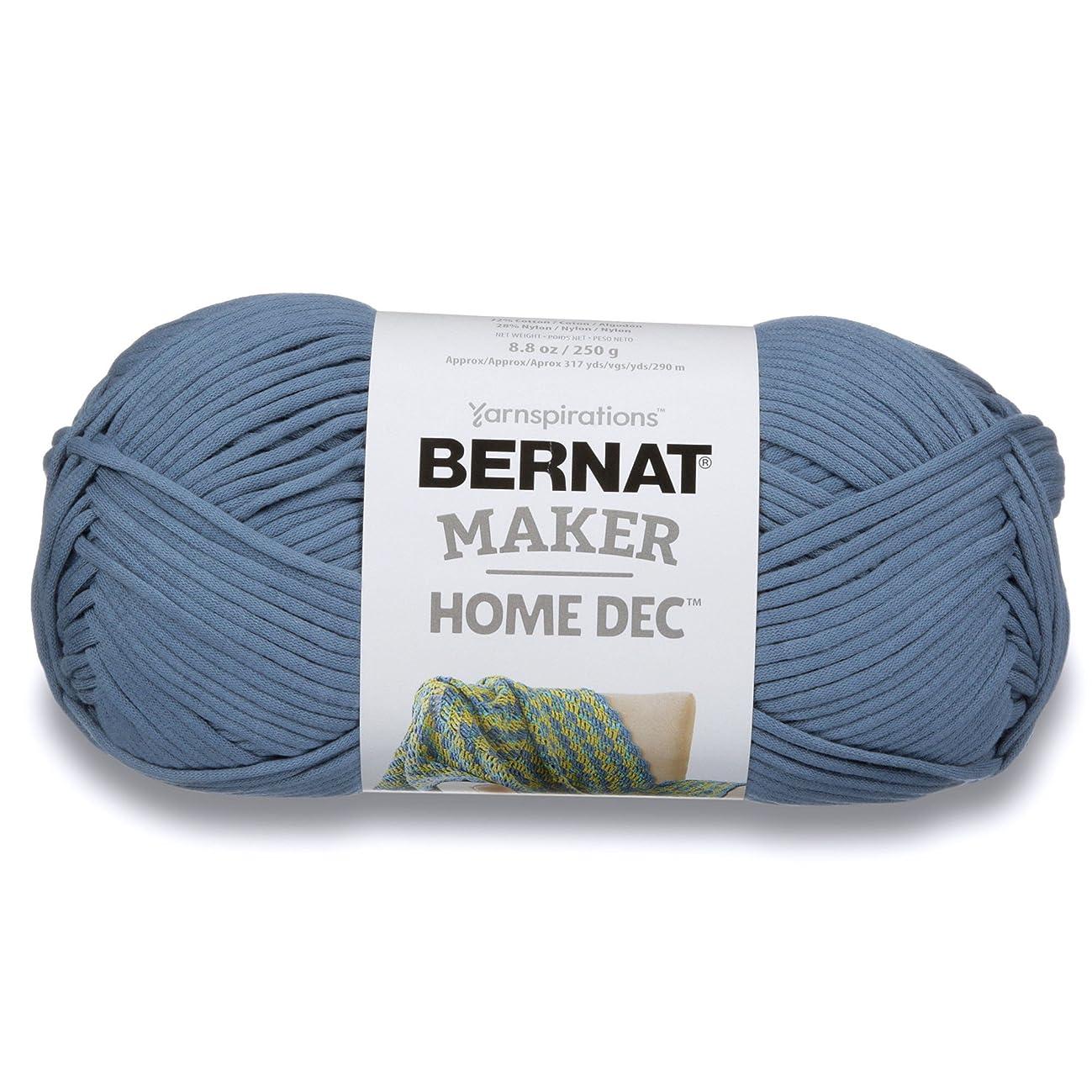 Bernat Maker Home Dec Yarn, 8.8oz, Guage 5 Bulky Chunky, Steel Blue