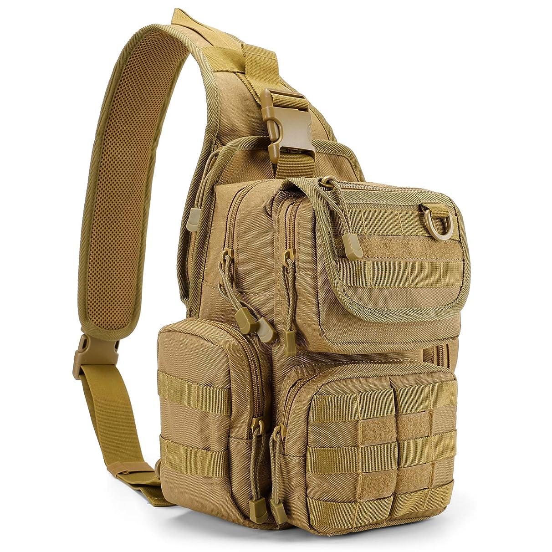G4Free Tactical Sling Bag Pack with Pistol Holster, Military Shoulder Bag Satchel, Range Bag Daypack Backpack