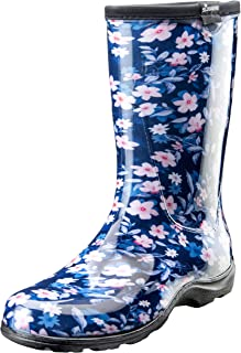 Sloggers Women's Waterproof Rain and Garden Boot with Comfort Insole Blue Size: 7