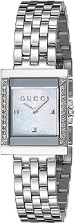 Gucci Femme Montre Bracelet G Frame à Quartz analogique en Acier Inoxydable ya128404