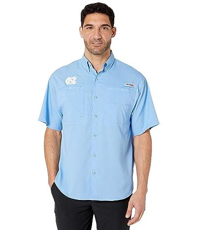 Columbia College North Carolina Tar Heels Collegiate Tamiami II Short Sleeve Shirt (White Cap) Men