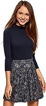 oodji Ultra Damen Baumwoll-Pullover mit 3/4-Arm
