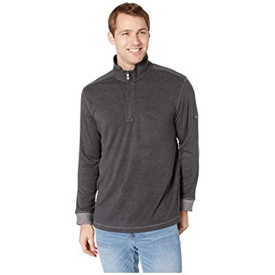 Tommy Bahama Cozy Cove 1/2 Zip Sweater (Charcoal Heather) Men