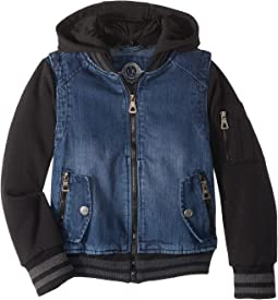 Aaron Cotton Denim Bomber Jacket (Little Kids/Big Kids)