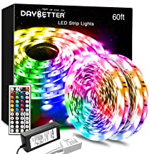 Daybetter Led Lights Color Changing Led Strip Lights with Remote Controller-60ft