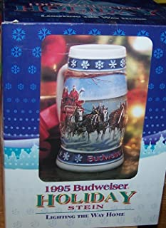 budweiser stein 1995 lighting the way home