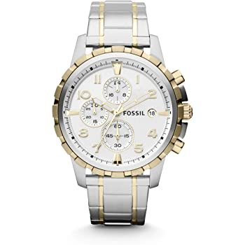 Fossil Men's Dean Stainless Steel Chronograph Dress Quartz Watch