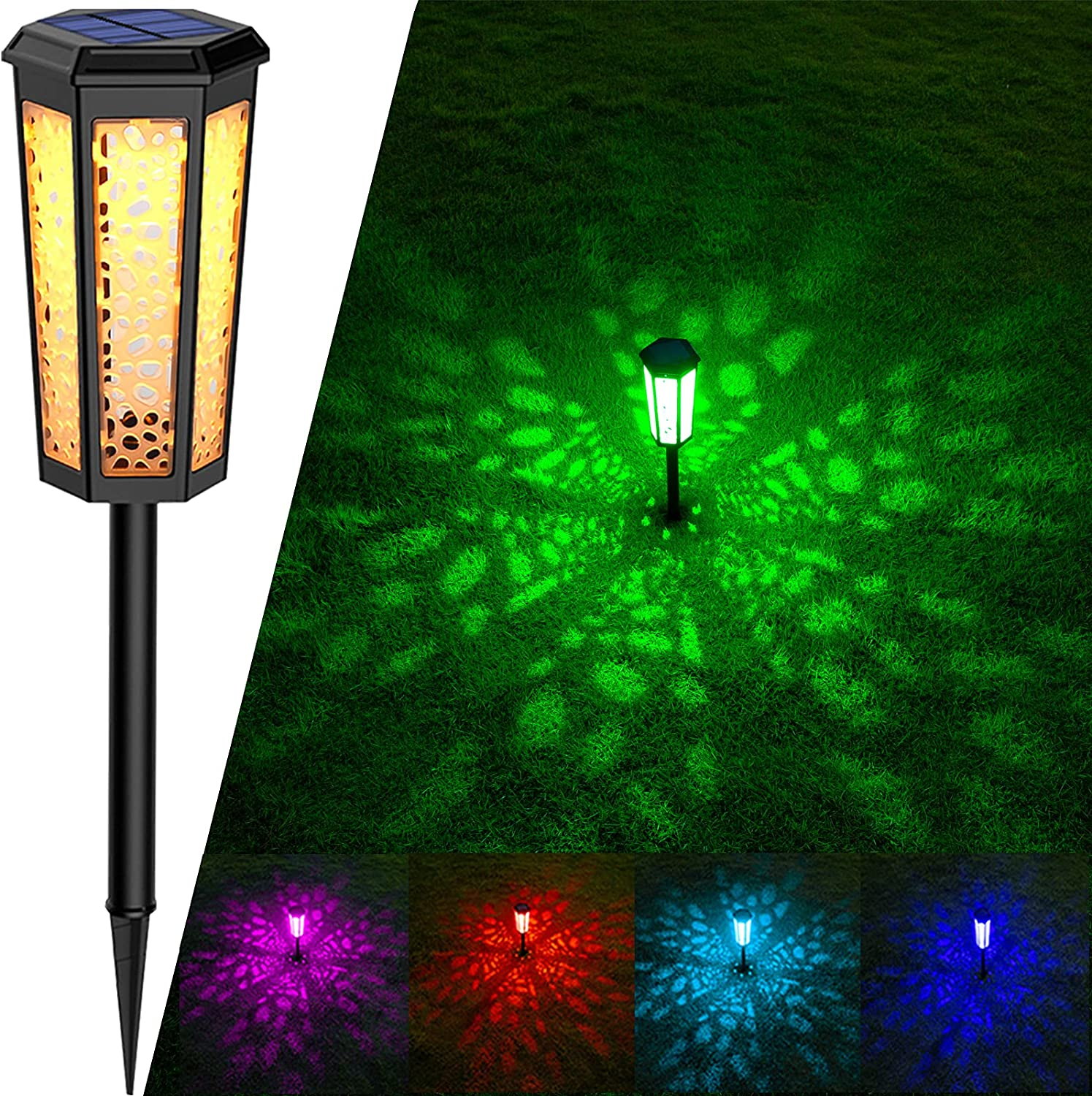7 Limited time trial price Colored Changing Solar Outdoor Waterproof Our shop most popular Lights Landsca