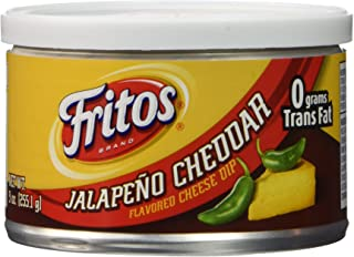 Fritos Cheese Dip, Jalapeno Cheddar, 9 Ounce (Pack of 6)