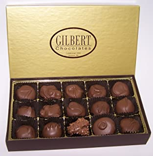 Gilbert Chocolates` Delicious Assortment - 7.5 ounces assortment of our milk chocolate covered creams, nuts and caramels
