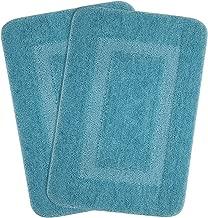 Saral Home Soft Microfiber Bathmat (45x70cm, Turquoise) - Set of 2