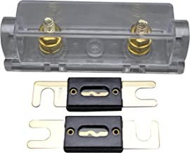 ANL Fuse Holder Distribution Inline 0 4 8 Ga Gold Plated 2X100A ANL Fuse