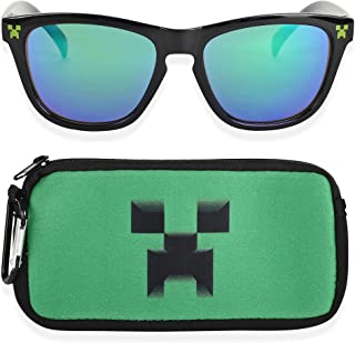 Kids Sunglasses with Kids Glasses Case, Protective...