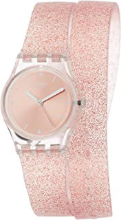 Swatch New Core Quartz Movement Pink Dial Ladies Watch LK354C