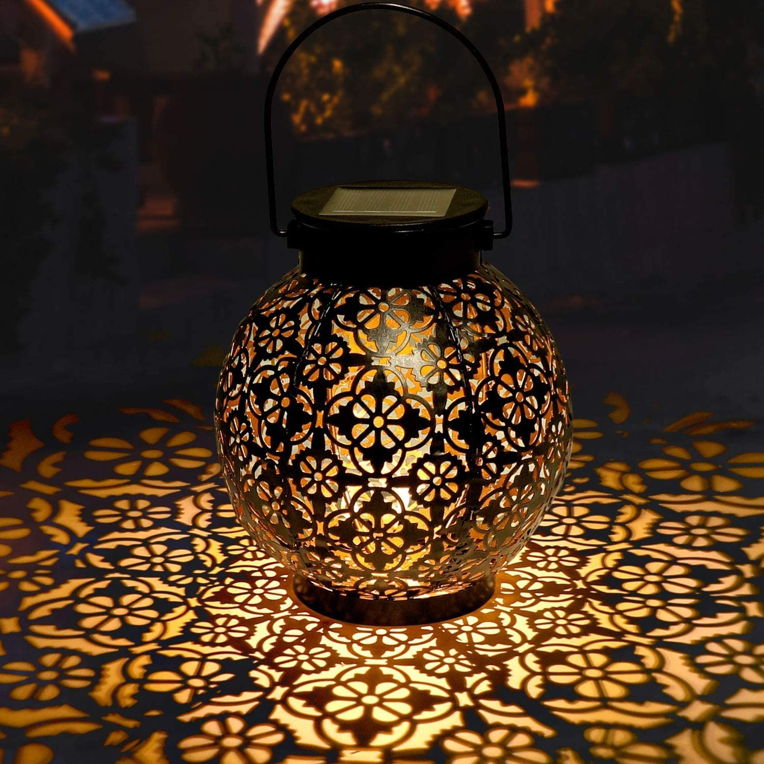 GolWof Our shop most popular Solar Lanterns Outdoor Albuquerque Mall Lights Hanging LED