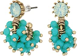 Marchesa - Lighter Than Air Post Hoop Cluster Earrings