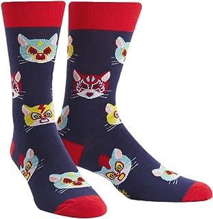 Sock It To Me, Gato Libre, Mens Crew Socks, Wrestling Cat Socks
