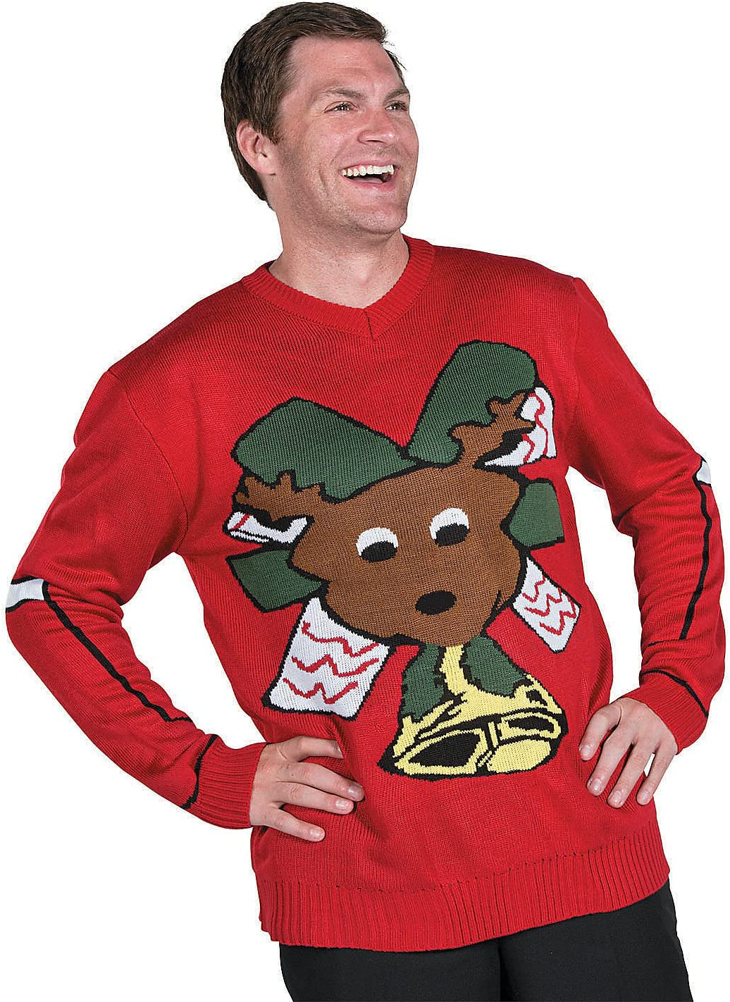 Ugly Christmas Sweater-RED Long Beach Mall - 1 Apparel Piece Free Shipping Cheap Bargain Gift Accessories