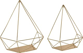 gold geometric shelves
