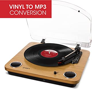 ION Audio Max LP – Vinyl Record Player / Turntable with Built In Speakers, USB Output..