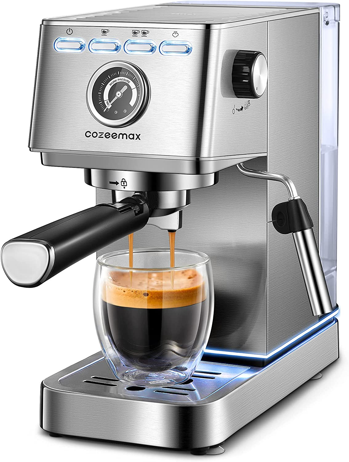 Espresso Machine 20Bar online Sale Special Price shopping Compact and wi Cappuccino Maker