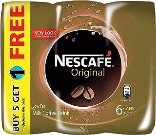 Nescafé Original Can - Buy 5 Get 1 Free, 240 ml (Pack of 6)