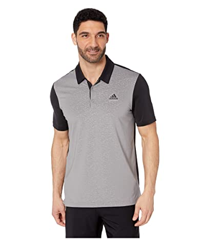 adidas Golf Ultimate 2D Camo Polo (Black/Grey Three) Men