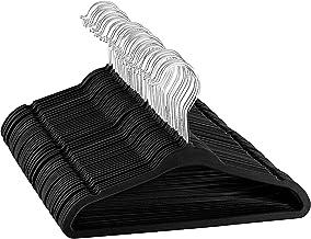 "ZOBER Premium Kids Velvet Hangers (14"" Inch - 50 Pack) Non-Slip Junior Hangers, Ultra-Slim Space-Saving Childrens Hangers - 360°-Swivel Hook, Strong & Durable Preteen Hangers (Medium)"