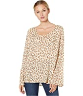 0567 Rayon Crepe Leopard Print Blouse