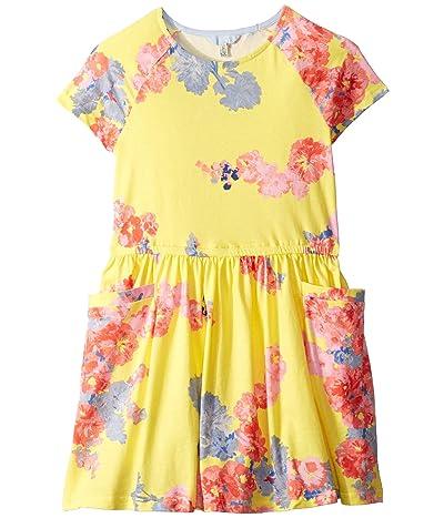 Joules Kids Jude Dress (Toddler/Little Kids/Big Kids) (Yellow Floral) Girl