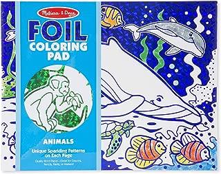 Melissa & Doug Foil Coloring Pad Animals Toy