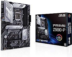 ASUS Prime Z590-P LGA 1200 (Intel 11th/10th Gen) ATX Motherboard (PCIe 4.0, 10+1 Power Stages, 3X M.2, 2.5Gb LAN, Front Pa...