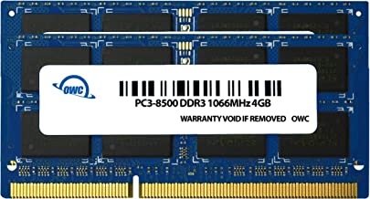 OWC 4.0 GB (2X 2GB) PC8500 DDR3 1066 MHz 204-pin Memory Upgrade Kit for MacBook Pro, MacBook, Mac Mini and iMac, (OWC8566D...
