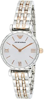Emporio Armani Women's Mother Of Pearl Dial Stainless Steel Analog Watch - AR11290, Multicolor