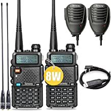 Ham Radio Walkie Talkie UV-5R Pro 8-Watt Dual Band Two Way Radio with Ham Radio Handheld Speaker Mic and NA-771 Antenna 2P...