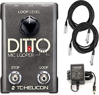 TC Helicon Ditto Mic Looper Pedal for Vocals with XLR Microphone Cables