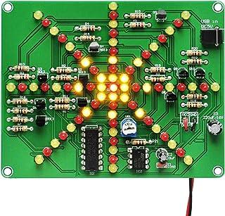 Gikfun Electronic LED Flashing Lights Soldering Practice Board PCB DIY Kit EK1874A