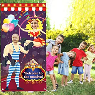 FEPITO Carnival Photo Door Banner Backdrop Carnival Game for Carnival Decorations, Circus Party Supplies