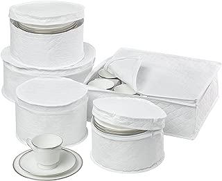 Honey-Can-Do SFT-01630 Dinnerware Storage Set, 5-Piece