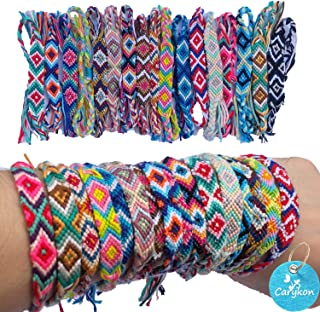 Carykon 12 PCS Nepal Woven Friendship Bracelets with a Sliding Knot Closure for Women Teens and Girls, Color May Vary