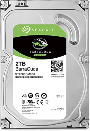 Seagate BarraCuda 2TB Internal Hard Drive HDD – 3.5 Inch SATA 6Gb/s 7200 RPM 256MB Cache 3.5-Inch – Frustration Free Packaging (ST2000DM008)