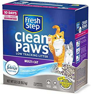 Fresh Step Clean Paws Scented with The Power of Febreze Clumping Multi-Cat Litter