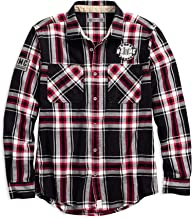HARLEY-DAVIDSON Men's Hdmc #1 Slim Fit Plaid Shirt, Plaid