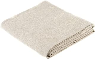 BLESS LINEN Natural Huckaback Pure Linen Bath Towel, Large, 30 x 58 Inches, Natural Grey