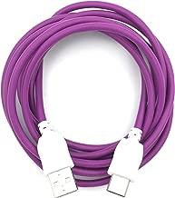 Xcivi USB Charger Cable Cord for Fuhu Tablets Nabi DreamTab, nabi 2S, nabi Jr, Jr. S, XD, Elev-8, 6 FT/2m (Purple)
