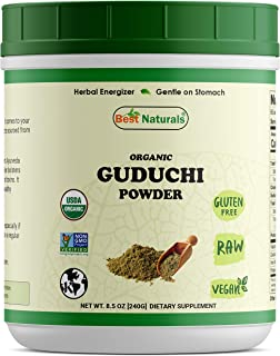 Best Naturals Certified Organic Guduchi Powder 8.5 OZ (240 Gram), Tinospora Cordifolia, Non-GMO Project Verified & USDA Certified Organic
