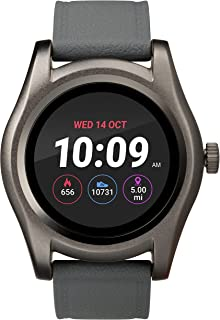 iConnect by Timex TW5M31600 Gunmetal Round Touchscreen Watch, Gray Silicone Strap