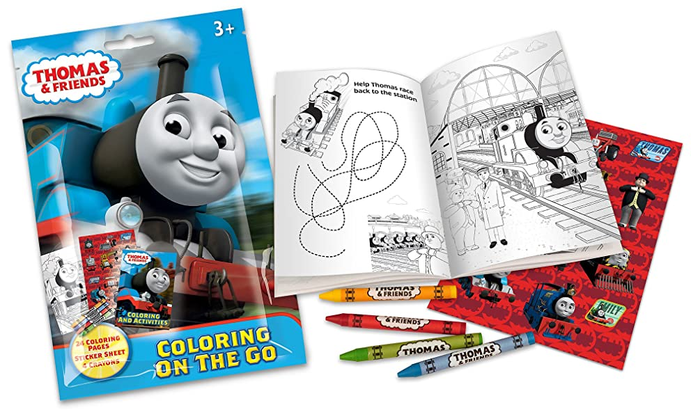 Thomas & Friends On The Go Coloring Pouch Activity Set with Stickers, Crayons and Coloring Pages