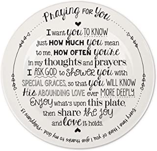 Lighthouse Christian Products Praying for You Ceramic Giving Plate