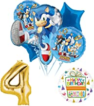 Sonic The Hedgehog 4th Birthday Party Supplies and Balloon Decorations
